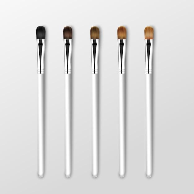 Набор кистей для теней для век clean professional makeup concealer Premium векторы