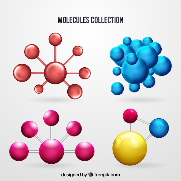 Set of colored molecules