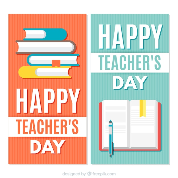 Set of colorful banners for the teacher\'s\ day