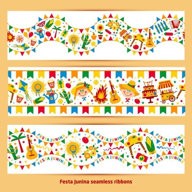مجموعه جشن های تزئینی رنگارنگ ژوئن آگهی ها