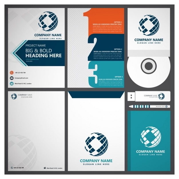 Set Of Corporate Business Branding Vector  Free Download