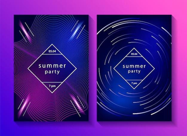 Набор творческих музыкальных плакатов. Premium векторы