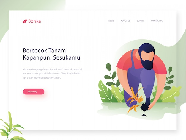 Set of creative website template design vector illustration Premium Vector