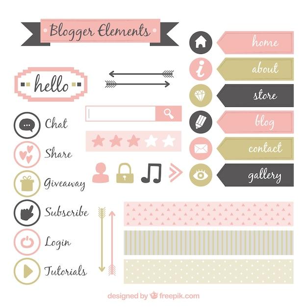 مجموعه ای از عناصر وبلاگ ناز پرنعمت