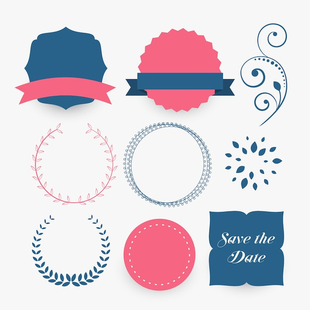 set of decorative design elements Free Vector