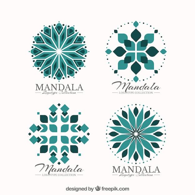Set of decorative mandala logos Free Vector