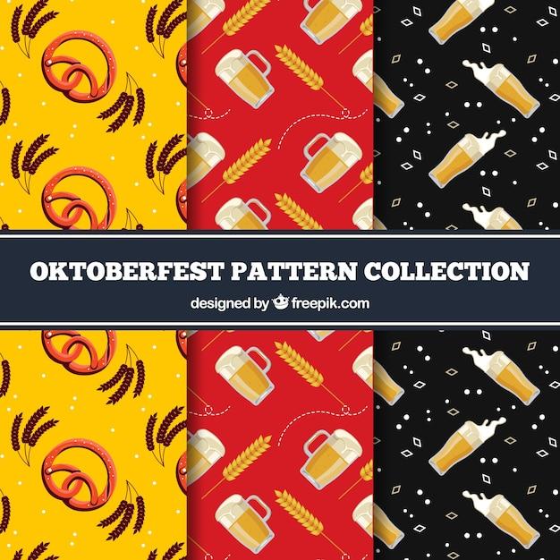 Set of decorative patterns of oktoberfest