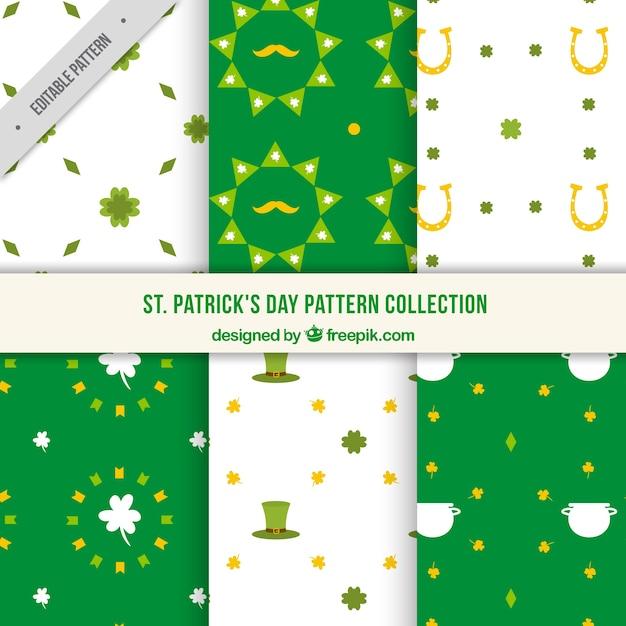 Set of decorative saint patrick's day patterns