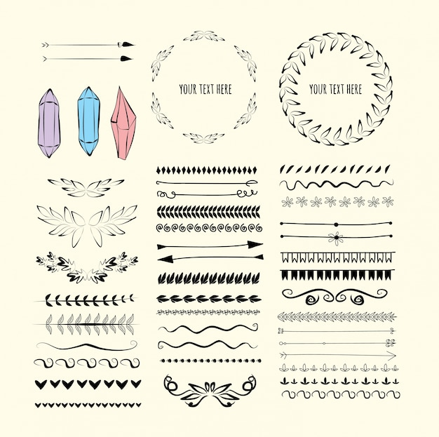 set of design elements Free Vector