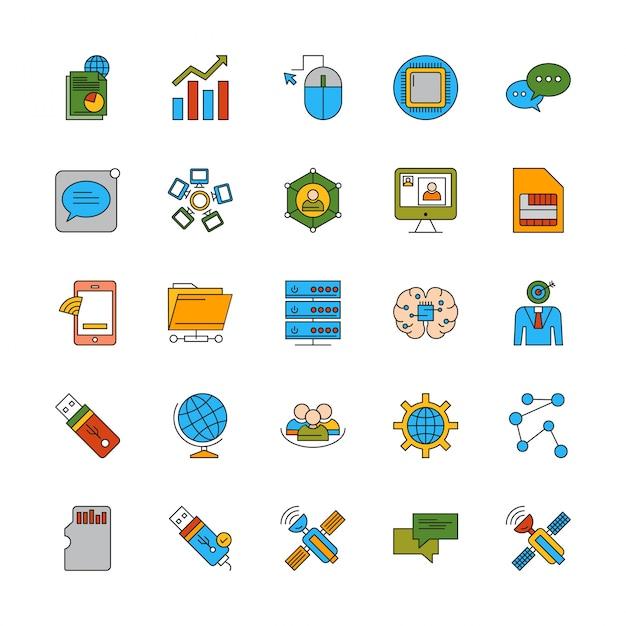 Набор разных иконок Premium векторы