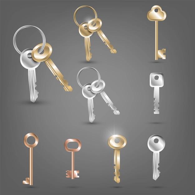 異なるキーのセット Premiumベクター