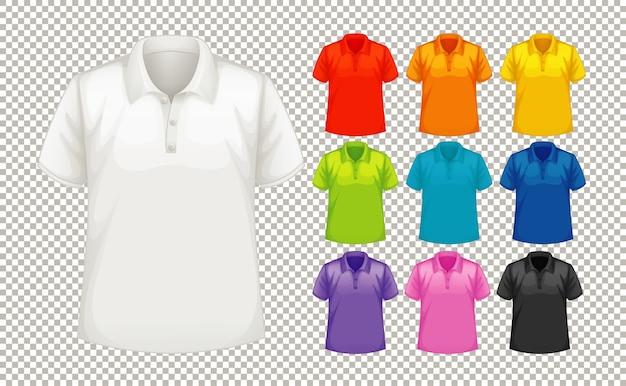 다른 색상의 다른 종류의 셔츠 세트 무료 벡터