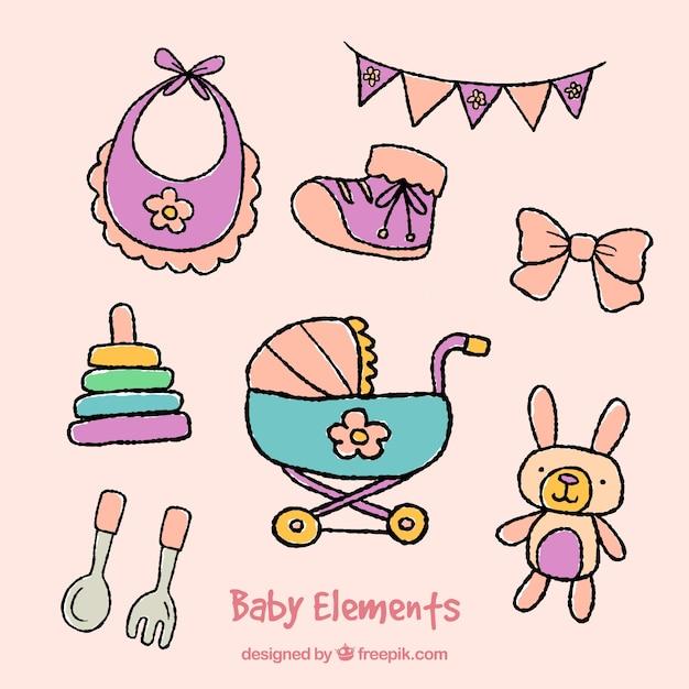 مجموعه ای از عناصر برای نوزادان