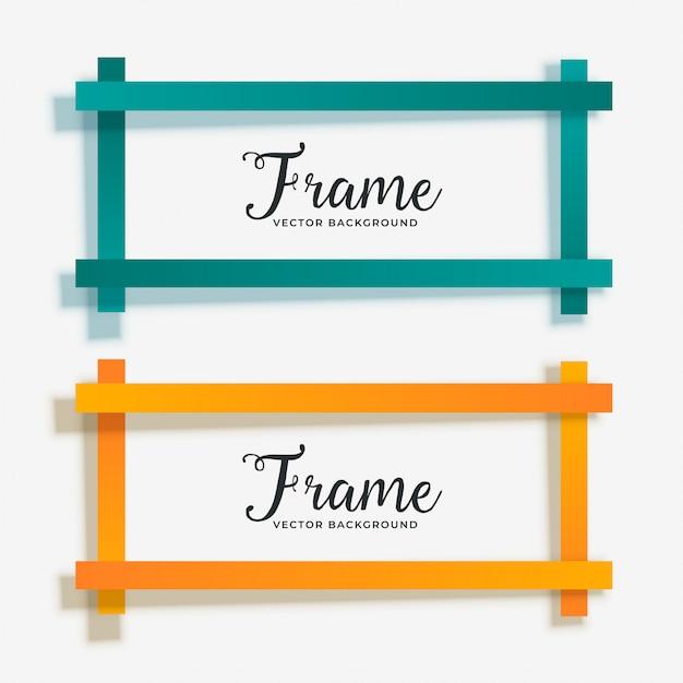 Set of empty geometric frame banner Free Vector