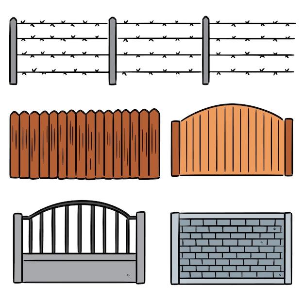 フェンスのセット Premiumベクター