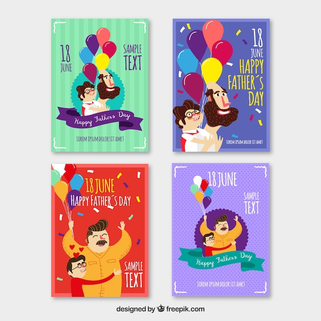 Set of four colored greeting cards for fathers day stock images set of four colored greeting cards for fathers day stock images page everypixel m4hsunfo