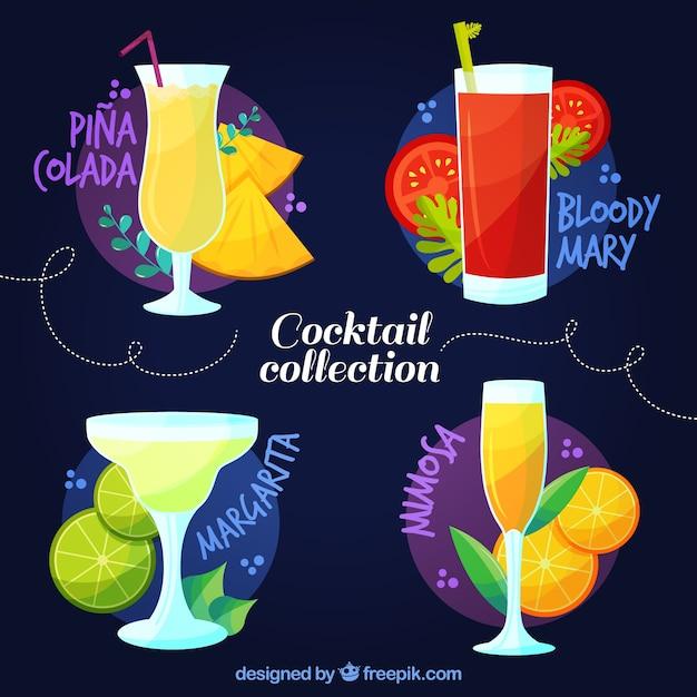 Set of fruit cocktails