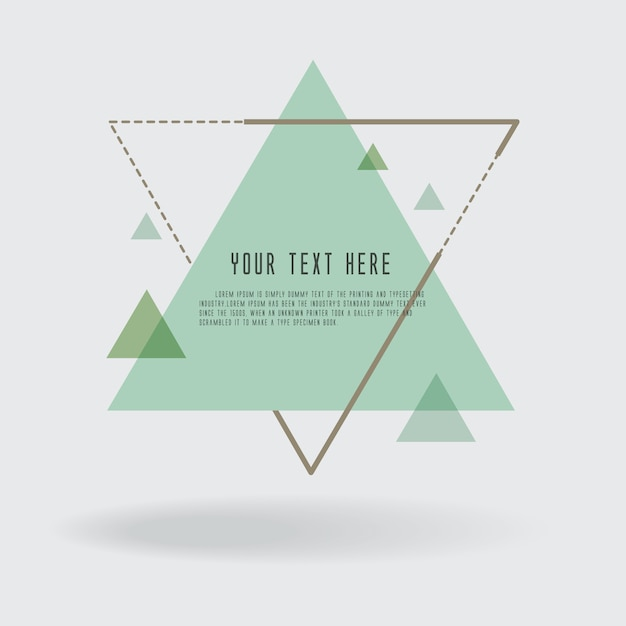 Set of geometric vector banners and Retro colored. Premium Vector