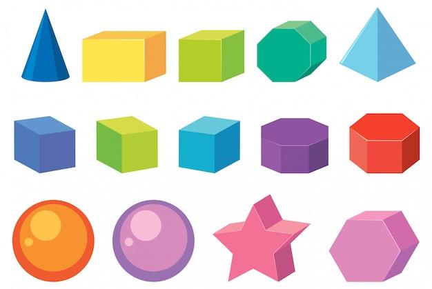 幾何形状のセット Premiumベクター