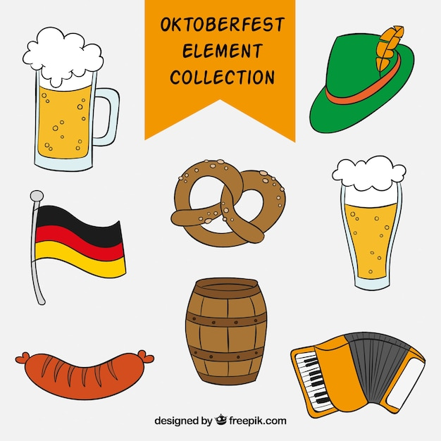 Set of german celebration elements