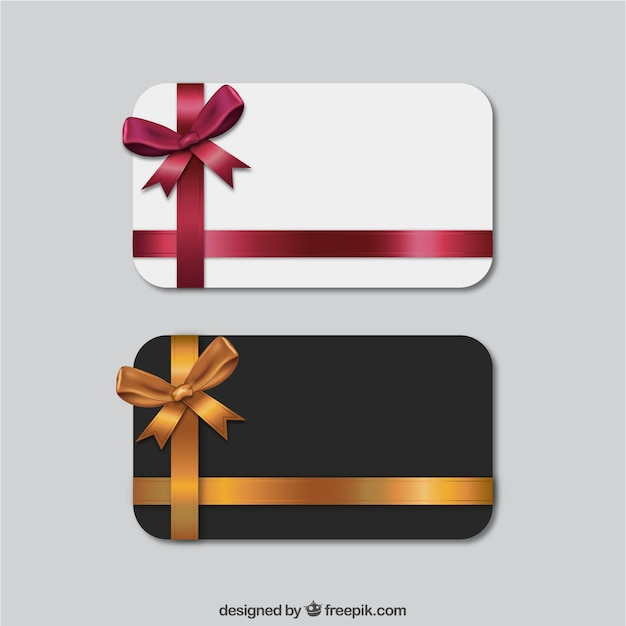 Set Of Gift Cards Vector Free Download