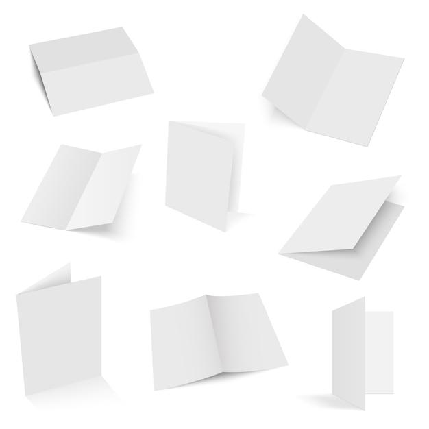 Набор заготовок для брошюр, сложенных вдвое. Premium векторы