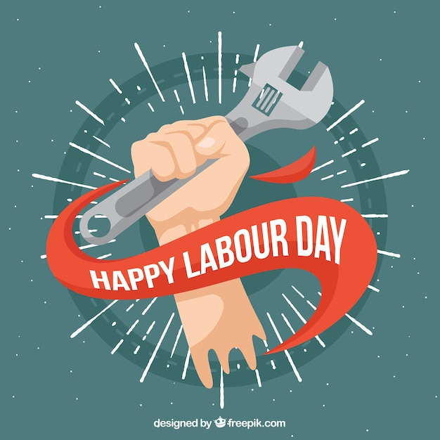 Set of labour day banners in vintage style Free Vector