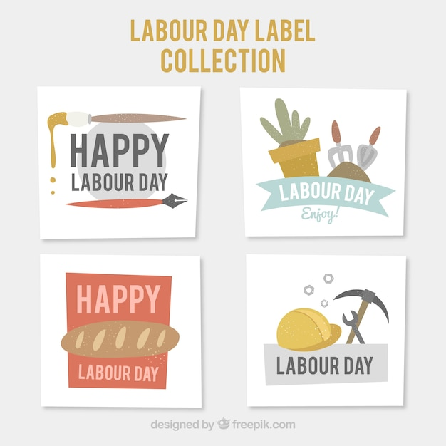 Set of labour day greeting cards vector free download set of labour day greeting cards free vector m4hsunfo