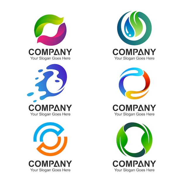 set of letter o logo templates vector premium download