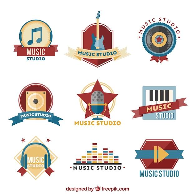 مجموعه آرم استودیو موسیقی