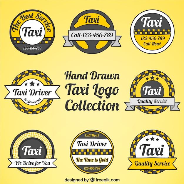 مجموعه آرم تاکسی سرویس