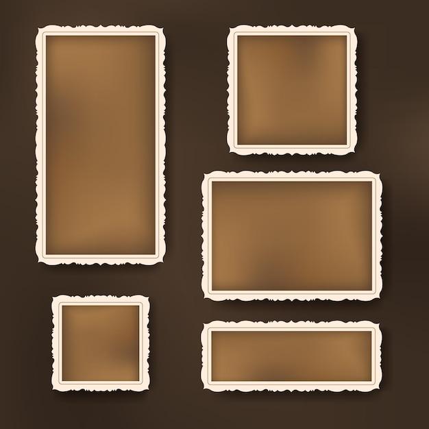 Набор прекрасных старинных рамок для альбомов Premium векторы