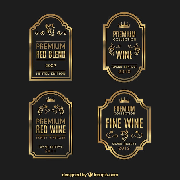 Wine Label Vectors, Photos And Psd Files | Free Download