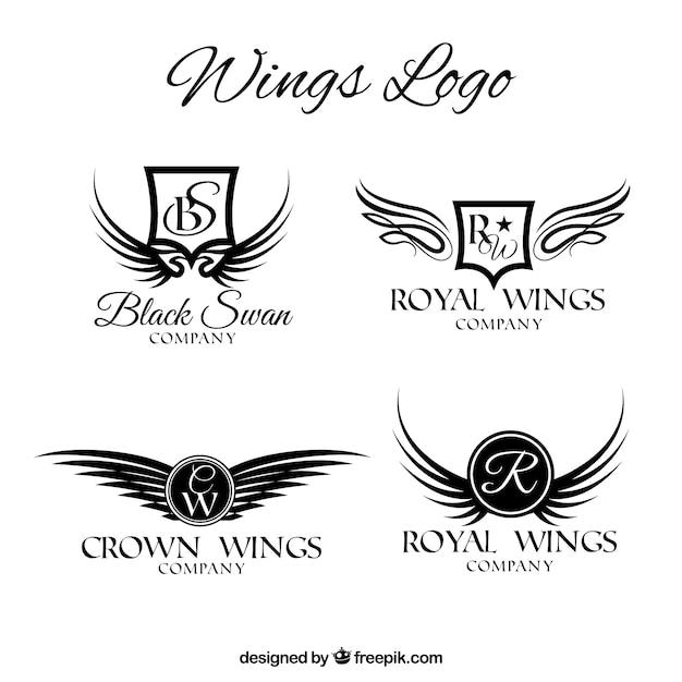 set of luxurious wings logos vector free download rh freepik com wing logistics uk limited wing logistics france