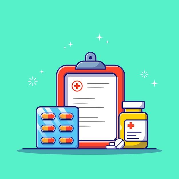 Набор лекарств для медикаментозного консультирования и диагностики Premium векторы