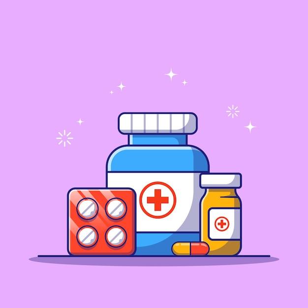 Набор лекарств для медикаментозного консультирования Premium векторы