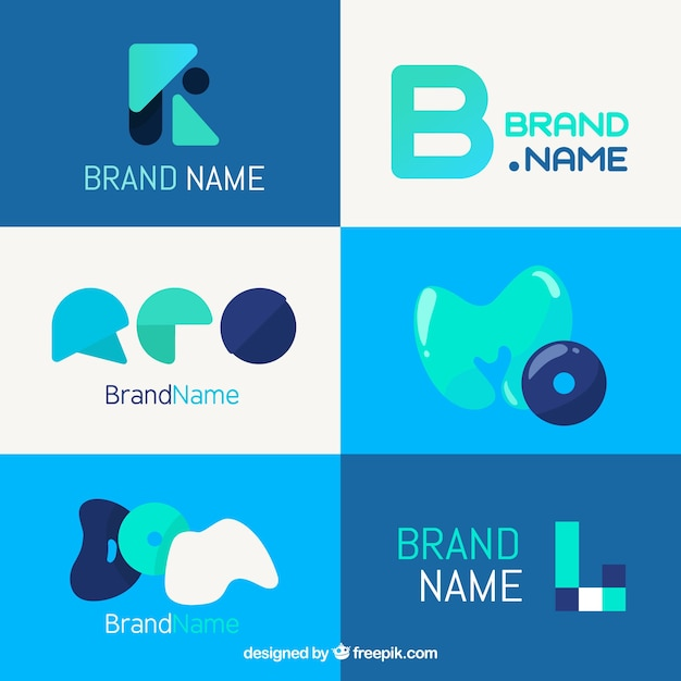 Set of modern abstract logos