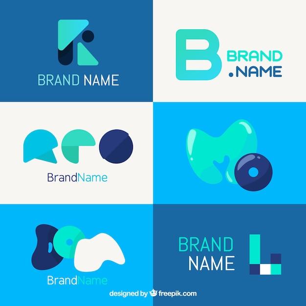 Set of modern abstract logos