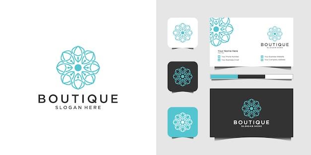 Набор морских и морской якорь креативный дизайн логотипа Premium векторы