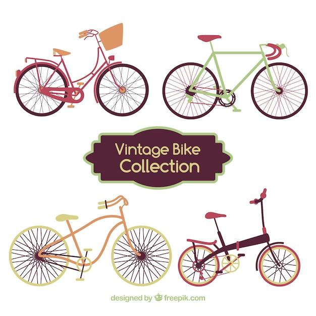 Set of nice bicycles in vintage style