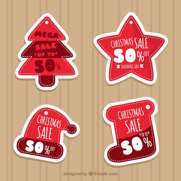 Set of nice christmas stickers for sale
