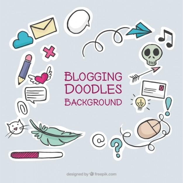 مجموعه ای از عناصر وبلاگ خوب دست کشیده