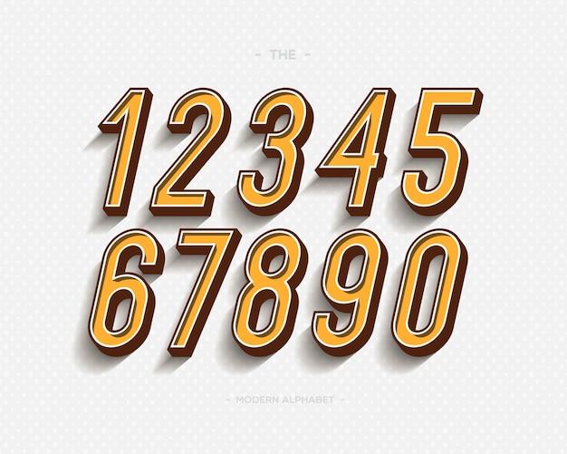 Набор чисел установить современную типографику Premium векторы