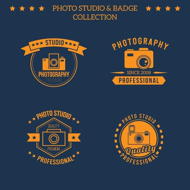 مجموعه آرم نارنجی برای عکس استودیو