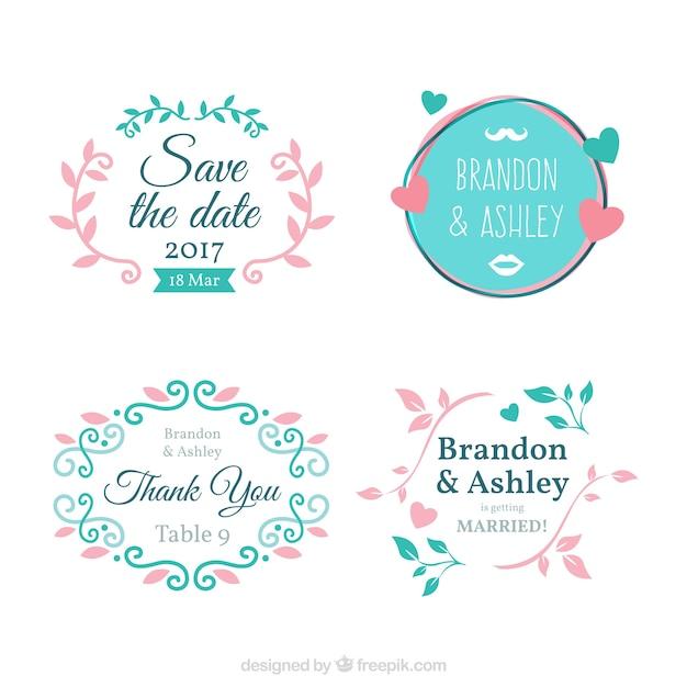 Set Of Ornamental Frames For Bachelorette Party Free Vector