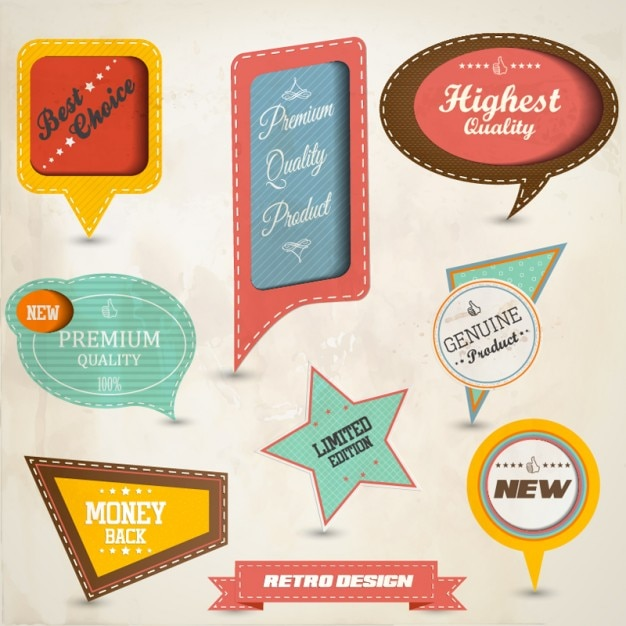 Set of paper tag labels-2 | Download Free Vector Vector | Free ...