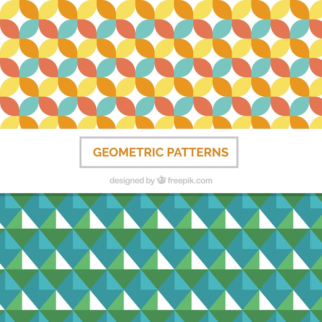 Set of patterns with nice geometric shapes