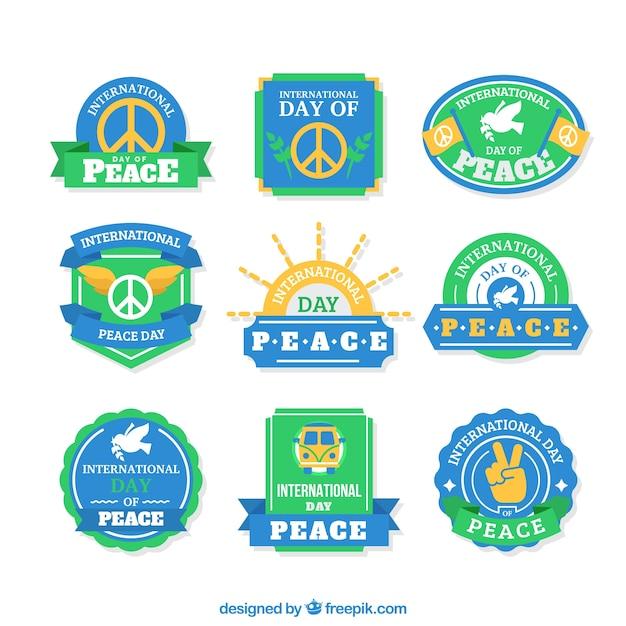 مجموعه ای از صلح مدالها در سبک های پرنعمت