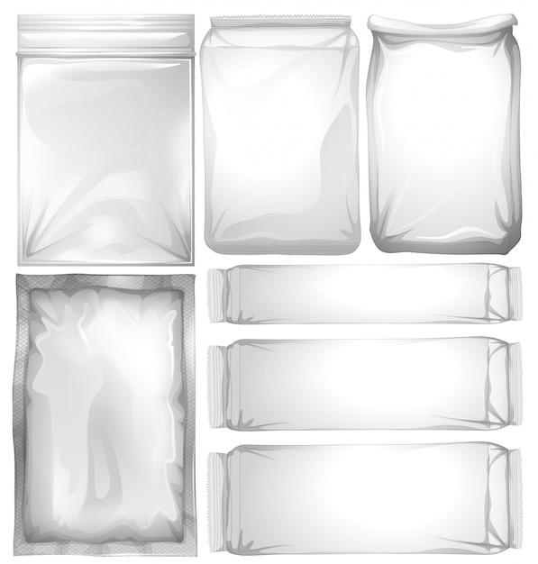Набор пластиковых пакетов Premium векторы