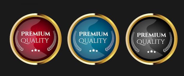 品質ラベルのセット Premiumベクター